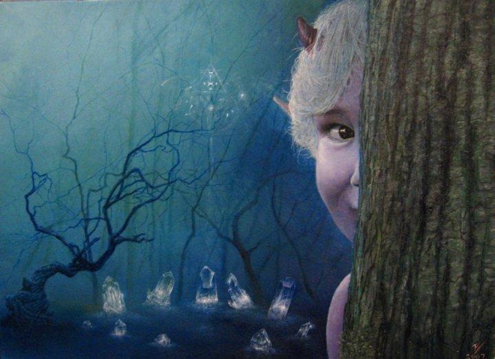 """The Fairy Ring,"" Real Fairy Art by Vladislav Pantic"